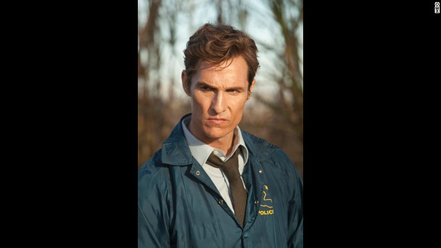 "McConaughey has found success on the small screen as the intense lawman Rust Cohle in the first season of HBO's ""True Detective."""