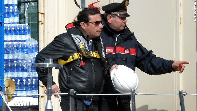 Costa Concordia Captain Boards Ship as Defendant