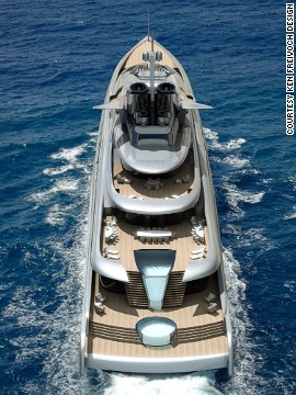 Stretching fully 145 meters, the Fortissimo would be one of the biggest in the world if built, but would still lag behind the 180-meter Azzam.
