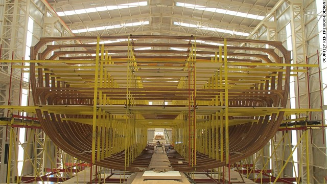 The Dream Symphony is still being constructed in Turkey and will be the largest sailing yacht in the world once completed in 2015.