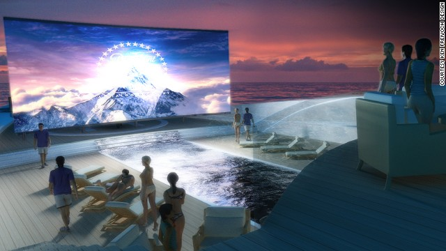 Freivokh believes there are now few luxury amenities you can't fit on a yacht, as borne out by these plans to include an outdoor cinema.