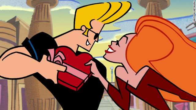 "Johnny Bravo is the beefcake, pompadour wearing main character of the animated series ""Johnny Bravo."" Oh, and he talks like Elvis. Season 2 is being released."