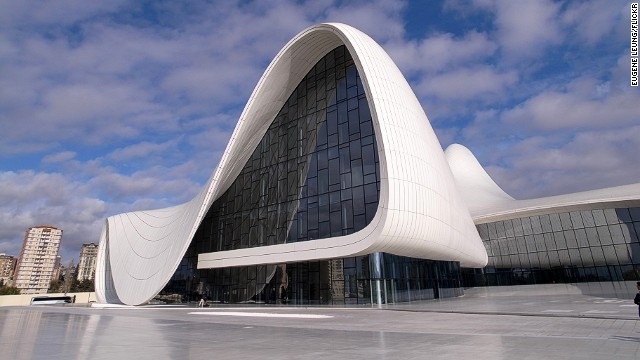 "Building data company Emporis has released a list of the world's most spectacular concert halls.<!-- --> </br>The Heydar Aliyev Center in Baku, Azerbaijan, has ""fluid forms that contrast to the rigid, monumental architecture you normally find in Baku."" President Ilham Aliyev, who officially opened the building on May 10, 2012, named the building after his late father, Heydar Aliyev, who was also a president of Azerbaijan. <strong>Architect:</strong> Zaha Hadid Architects."