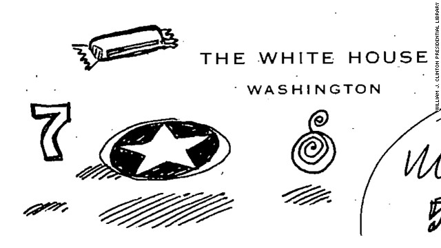 This Sheshol doodle was found on notes from a White House meeting on China trade from May 23, 2000.