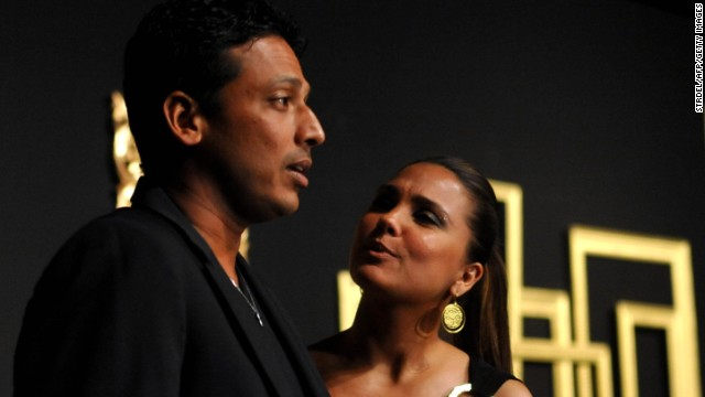 Paes' former doubles partner, Mahesh Bhupathi, is the man behind the IPTL. He's seen here with his Bollywood star wife, Lara Dutta.