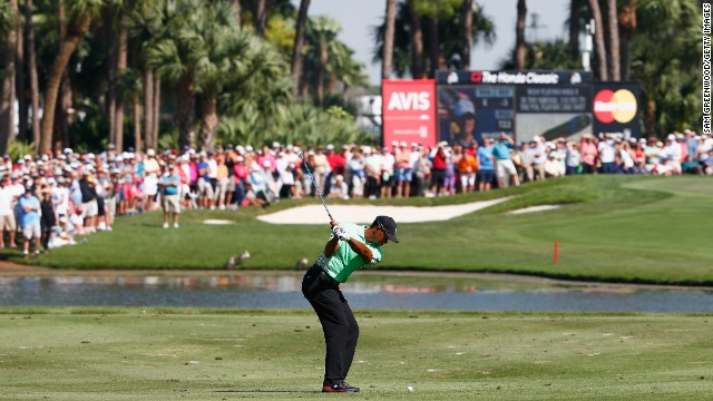 Tiger Woods has never won the Honda Classic and he has ground to make up if he's to triumph Sunday.
