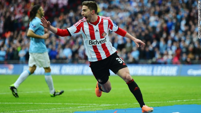Fabio Borini gave Sunderland early hope with a fine 10th minute goal for the underdogs.