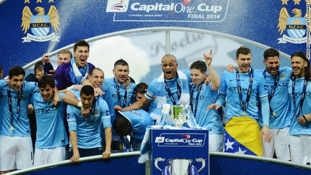 Manchester City took the honors in the first Wembley f