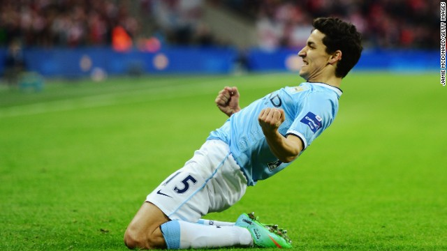 Jesus Navas rounded off the scoring and sealed his side's Wembley triumph.