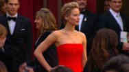 Jennifer Lawrence gives everything her all -- even lip-syncing.