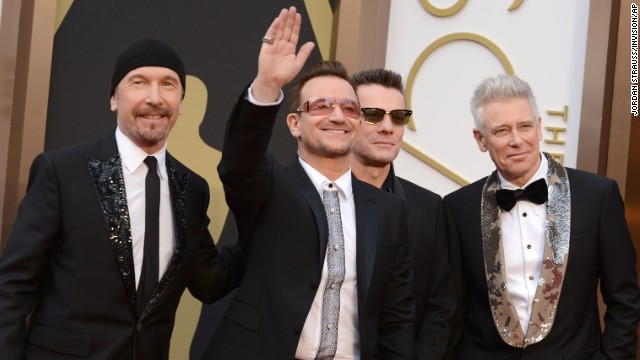 From left, The Edge, Bono, Larry Mullen Jr. and Adam Clayton of U2