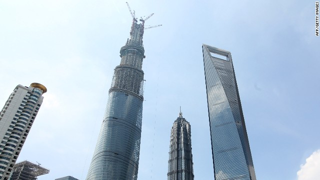 <strong><i><u>Name:</u></i></strong> Shanghai Tower<!-- --></br><!-- --></br><strong><i><u>Location:</u></i></strong> Shanghai, China<!-- --></br><!-- --></br><strong><i><u>Height:</u></i></strong> 632 meters (2,073 feet)<!-- --></br><!-- --></br><strong><i><u>Description:</u></i></strong><i> </i>The Shanghai Tower is currently the tallest building in China and the second tallest building in the world, behind the Burj Khalifa in Dubai, having been topped out in 2013. When it officially opens in 2015 it will house office space as well as one of the world's highest hotels.