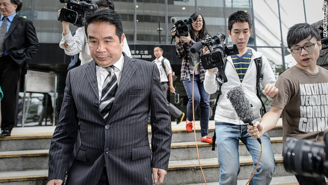 Birmingham City owner Carson Yeung leaves court in Hong Kong in this file picture dated April 29, 2013.