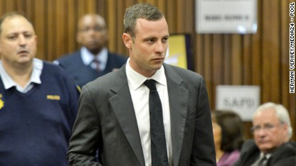 Oscar Pistorius appears in the North Gauteng High Court in Pretoria, South Africa on March 3. Pistorius is accused of the murder of his girlfriend Reeva Steenkamp on February 14, 2013.