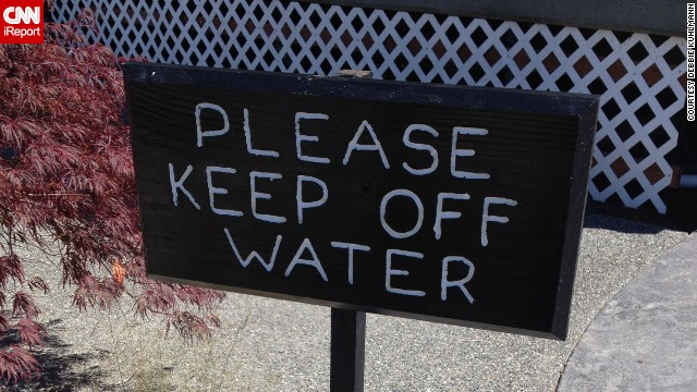 "Debbie Kuhlmann laughed when she spotted <a href='http://ireport.cnn.com/docs/DOC-1098144'>this sign</a> next to a fountain in Kingston, Washington. ""'Off' is the wrong preposition for this sign, unless people were walking on the water in the fountain,"" she said. ""Grammar reveals your level of competence and your attention to detail."""