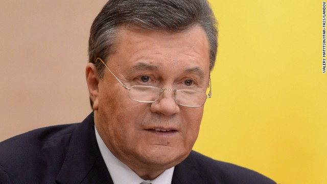 Former Ukrainian President Viktor Yanukovych: Ukraine has been in chaos since February, when Yanukovych was ousted after anti-government protests turned deadly in the capital of Kiev. The demonstrations started in late November, when Yanukovych spurned a deal with the European Union, favoring closer ties with Russia instead. The Ukraine Parliament voted Yanukovych out of power on February 22, and he fled to Russia. But in a recent news conference, the former President insisted he was still the boss and that he wants nothing more than to lead his country to peace, harmony and prosperity.
