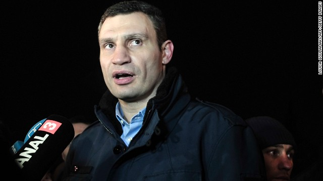 Ukrainian opposition leader Vitali Klitschko: The former heavyweight boxing champion -- and brother of current champion Wladimir -- is probably the most well-known figure representing the Ukrainian opposition to Yanukovych. He heads the Ukrainian Democratic Alliance for Reforms party, but the opposition bloc goes well beyond Klitschko and that party.
