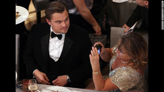 Leonardo DiCaprio with his mother, Irmelin, attends the Annual Cinema For Peace Gala at the 60th Berlin International Film Festival on February 15, 2010, in Berlin, Germany.