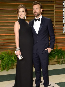 Olivia Wilde and Jason Sudeikis announced in October that they're expecting their first child together.