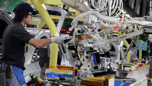 """Inside Toyota, the Motomachi factory is referred to as """"the mother plant."""" Engineers are sent from here to train workers in other company manufacturing bases in Japan, such as the Tsutsumi plant in this photo, and overseas."""