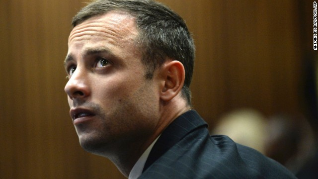Pistorius appears on the second day of his trial on Tuesday, March 4.