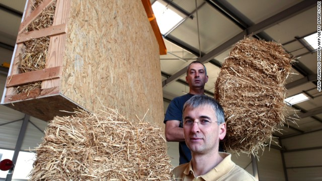 "Another natural material with carbon negative production: lowly straw is making a return to construction. In America's ""Nebraska Method"" homes, <a href='http://www.architecture.com/SustainabilityHub/Designstrategies/Earth/1-1-1-8-Strawbaleconstruction.aspx' target='_blank'>straw bales</a> are used as a both a structural and insulating material. Companies such as UK's <strong><a href='http://www.modcell.com/' target='_blank'>ModCell</a></strong> manufacture pre-fabricated wall and roof panels from straw."