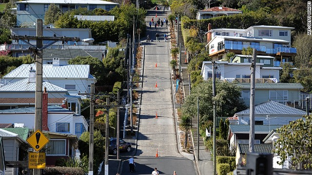 At its steepest section, the 3.5-kilometer street records a 38% grade.
