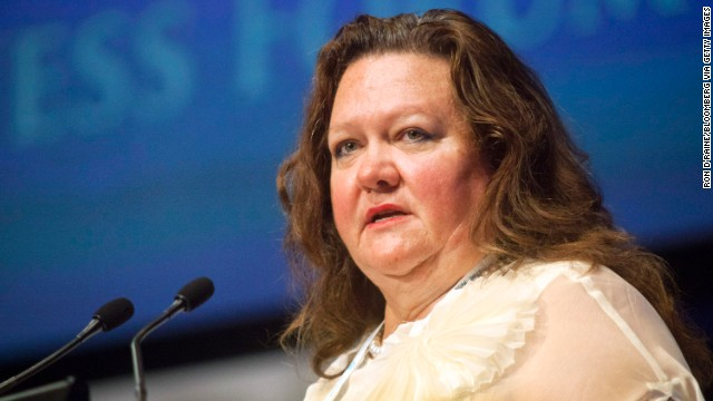 Australia's Gina Rinehart is the executive chairman of her family's mining company, Hancock Prospecting, and has a net worth of $17.7 billion. Hancock Prospecting owns one of the largest land leases in Western Australia.