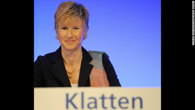 Germany's richest woman, Susanne Klatten, has a net worth of $17.4 billion largely due to the stake in BMW from her father's inheritance. Klatten controls chemical manufacturer Altana, holds stakes in Dutch biotech company Paques, oil recycling company Avista Oil of Germany, wind power company Nordex AG, soil additive company Geohumus, and is chairwoman of the supervisory board of carbon and graphite producer SGL.