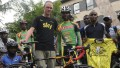 Chris Froome and mentor David Kinjah