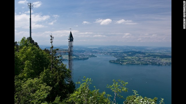 At 499 feet, Switzerland's Hammetschwand Lift is the tallest outdoor lift in Europe.