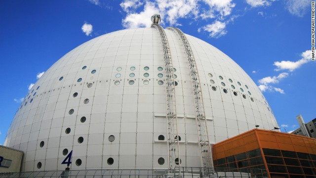 The Ericsson Globe in Stockholm, Sweden, is massive at 361 feet in diameter. Ride the SkyView elevator to the top of the landmark for spectacular views over the city.
