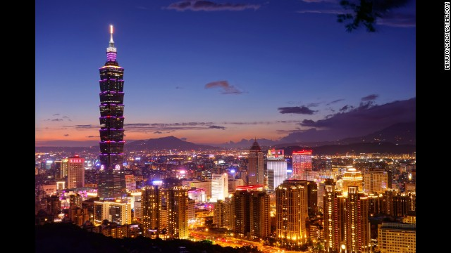Take in views of the city's parks, temples and skyscrapers from the 89th-floor observatory at Taipei 101 in Taiwan.