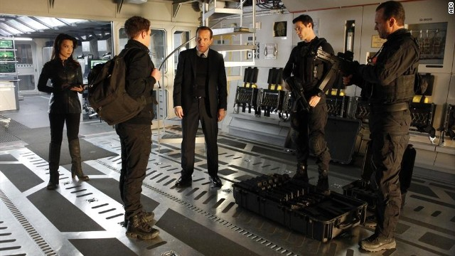 Clark Gregg (center) stars as Agent Coulson in ABC's