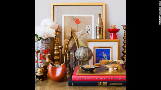 Vintage gold and brass accessories.