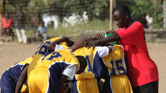 LACES is a charity using football to help Liberian children learn life skills.