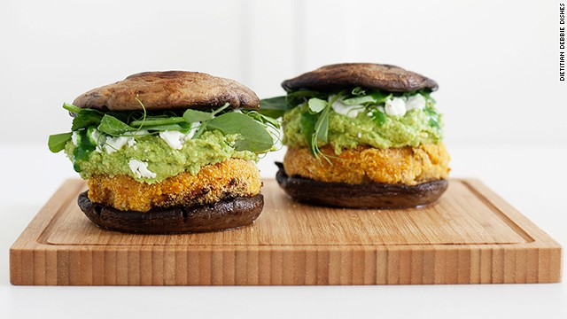 "Sweet potatoes, chickpeas, edamame and mushrooms -- what's not to love about these <a href='http://kenkokitchen.com/blog/2013/4/9/sweet-potato-burgers-with-edamame-guacamole' target='_blank'>""burgers?""</a>"
