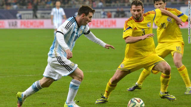 Lionel Messi suffered a frustrating night as Argentina was held to a goalless draw by Romania in Bucharest. The Barcelona forward vomited on the pitch after seven minutes of the contest and failed to reach the peak of his powers.