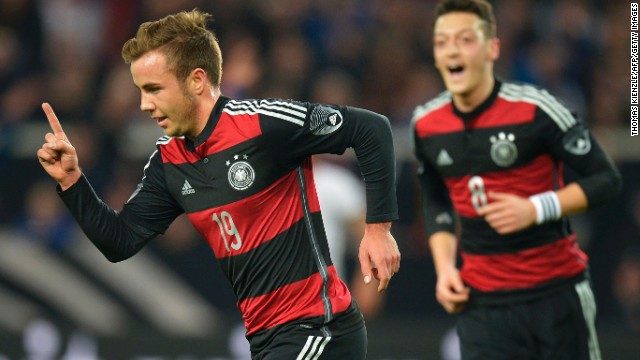 Mario Gotze scored the only goal of the game as Germany defeated Chile 1-0 in Stuttgart.