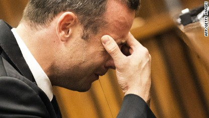 Pistorius breaks down during trial