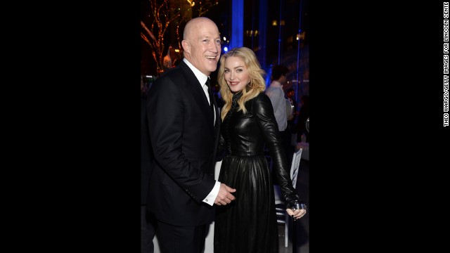 "Madonna, seen here with talent agent Bryan Lourd in February, no longer feels the need to shock with things such as her ""Sex"" book and <a href='http://www.youtube.com/watch?v=MAy-NtCQCB8' target='_blank'>girl-on-girl lip-locking. </a>She recently started the <a href='http://www.cnn.com/2013/10/04/showbiz/celebrity-news-gossip/madonna-anderson-cooper-5-things/'>""Art for Freedom"" movement</a>."