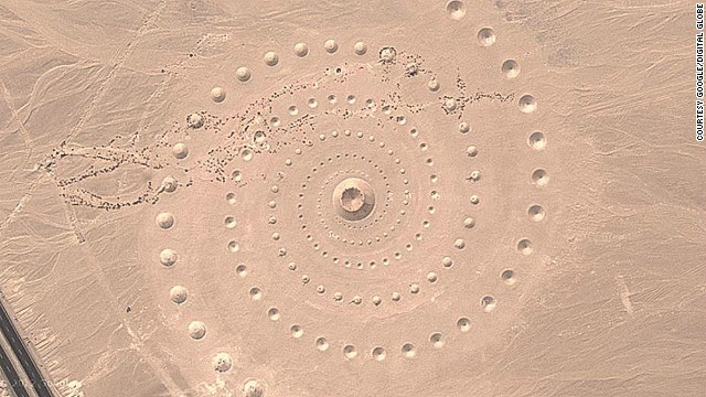 This year, many Google Earth users questioned what this giant spiral in the Sahara Desert was. The Google image demonstrates how the site has deteriorated in recent years.