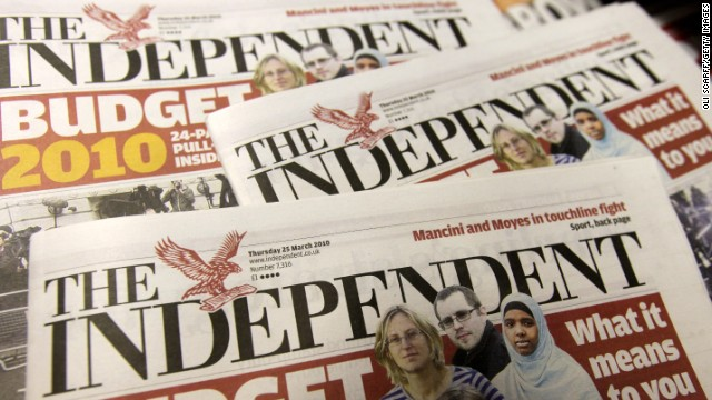 Both The Independent, one of UK's daily national newspapers, and London's widely read freebie the Evening Standard are owned by Russian billionaire Alexander Lebedev.