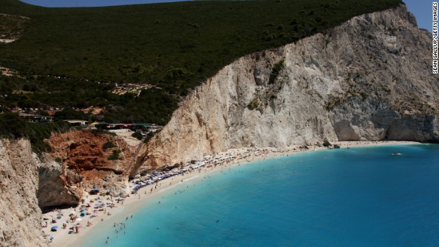 Skorpios island in Greece is reportedly owned by Ekaterina Rybolovleva, the daughter of oligarch Dmitry Rybolovlev. In 1968, the island was the site of Jackie Kennedy's wedding with the former owner of the island, Aristotle Onassis. (Skorpios is just off the coast of Greek island of Lefkada, pictured.)