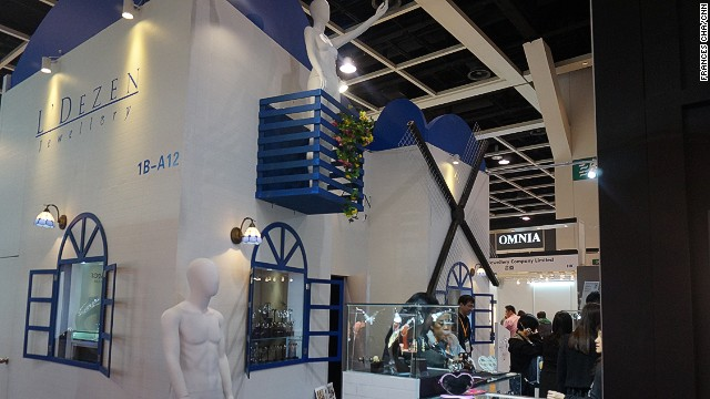Each store builds an eye-catching, lavish booth for the shows, which run for a week.