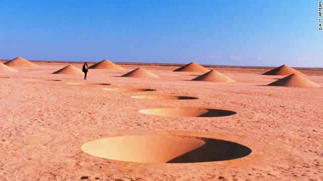 Desert Breath is made up of a series of conical dips and protrusions. It took D.A.S.T. Arteam nine months to build.