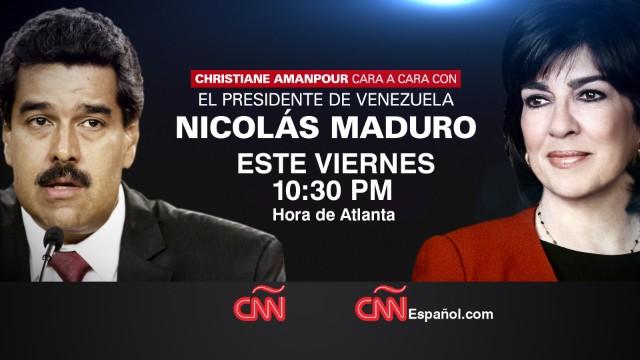 Nicolás Maduro, en entrevista exclusiva con Christiane Amanpour