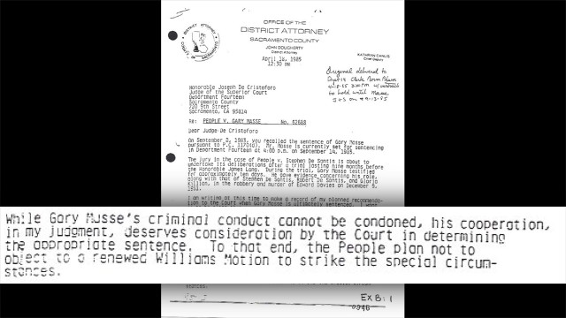 "Ride's investigator <a href='http://i2.cdn.turner.com/cnn/2014/images/03/11/cleland.letter.to.judge-2.pdf' target='_blank'>uncovered this letter by the prosecution dated April 1985</a>, ""in which the government stated its intention to support Masse's resentencing as a result of his cooperation,"" the appeals court wrote. The letter would ""have been valuable to the defense in impeaching Masse's credibility before the jury."" But prosecutors didn't share the letter with Killian's lawyers. Masse's ""cooperation ... deserves consideration by the Court in determining the appropriate sentence,"" the letter says."
