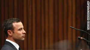 Oscar Pistorius listens to proceedings in court during his trial in Pretoria, South Africa, on Friday, March 7.