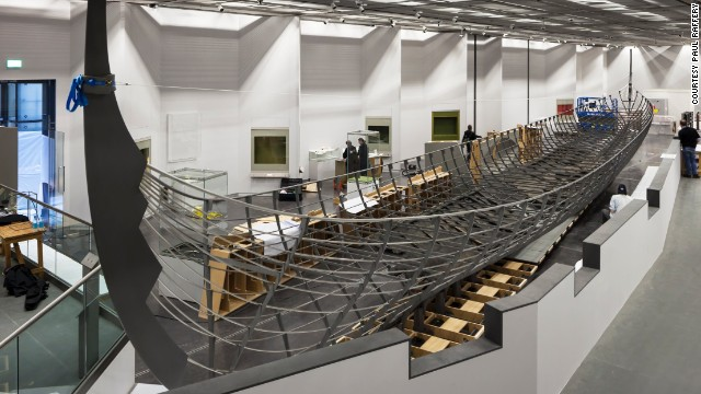 At 37 meters long, the Roskilde 6 is the biggest Viking ship ever discovered. It is on display at the British Museum in London.